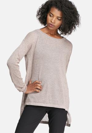 Vero Moda Altha Knit Blouses Pink & Grey