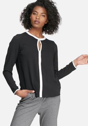Vero Moda Illy Blouse Black & White