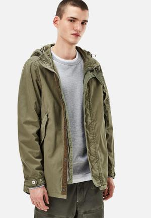 G-Star RAW Batt HDD Short Parka Scota Weave Jackets Khaki