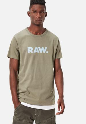 G-Star RAW Holorn Youn Jersey T-Shirts & Vests Khaki