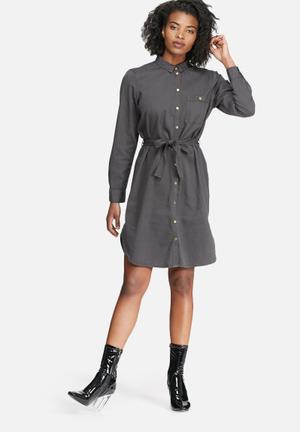 Vero Moda Penny Shirt Dress Casual Grey