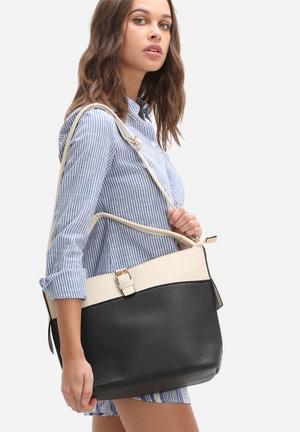 Dailyfriday Noelle Medium Bag Back & Cream