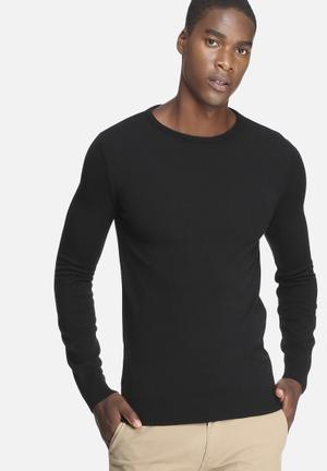Basicthread Basic Crew Neck Pullover Knitwear Black