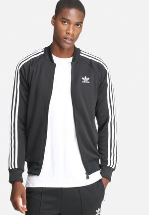 Adidas Originals Superstar Track Top Hoodies & Sweatshirts Black & White
