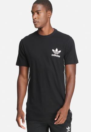 Adidas Originals Classic Elongate Tee T-Shirts Black & White