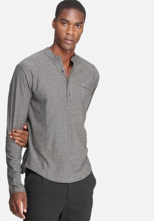 Only & Sons Nelix Grandad T-Shirts & Vests Grey