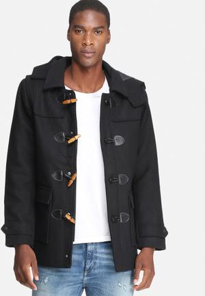 Only & Sons Ville Duffle Coat Black