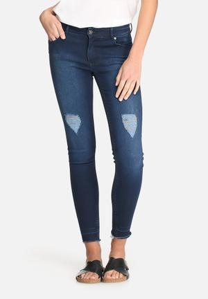 Dailyfriday Ameli Raw Hem Skinny Jeans Blue