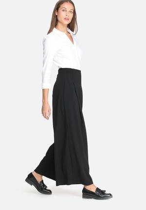 Dailyfriday Wide Leg Formal Pants Trousers Black