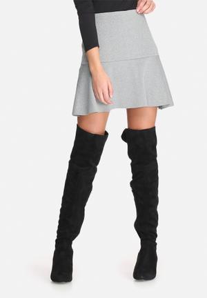 Dailyfriday Dropped Waist Scuba Mini Skirt Grey