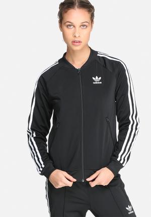 Adidas Originals Supergirl Tracktop Hoodies & Jackets Black & White