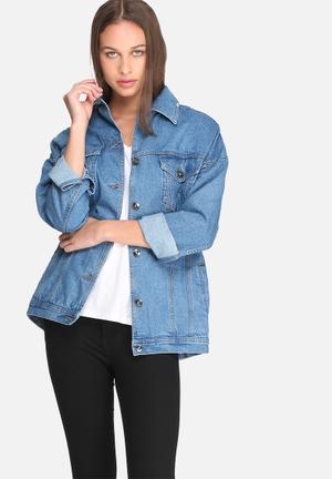 Dailyfriday Tia Oversized Denim Jacket Blue