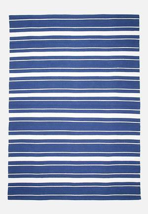 Sixth Floor Odd Stripe Rug Handwoven Cotton Dhurrie