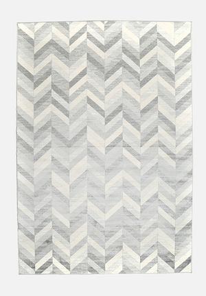 Hertex Fabrics Herringbone Marble Rug Marble