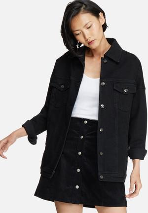 Dailyfriday Tia Oversized Denim Jacket Black