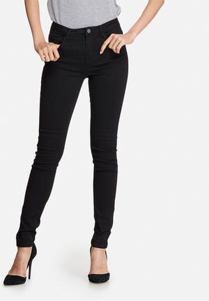 Pieces Five Betty Jeggings Jeans Black