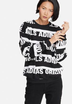 Adidas Originals Trefoil Sweatshirt Hoodies & Jackets Black & White