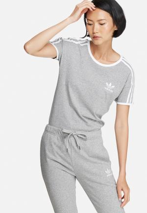 Adidas Originals Sandra 1977 Tee T-Shirts Grey & White