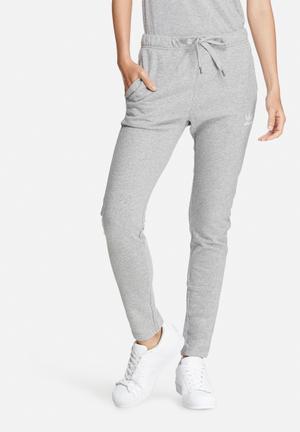 Adidas Originals Slim Trackpants Bottoms Grey & White