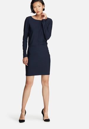 Vero Moda Dina Dress Formal Navy