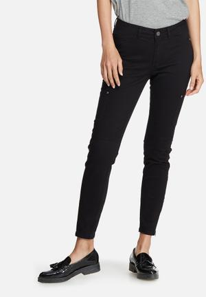 Vero Moda Seven Slim Cargo Ankle Pants Trousers Black