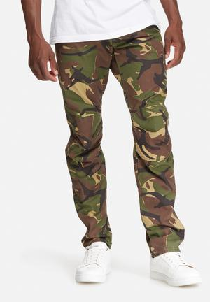 G-Star RAW Elwood 5622 Tapered Pants & Chinos Brown & Green