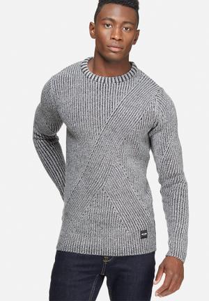 Only & Sons Dane Crew Knit Knitwear Grey
