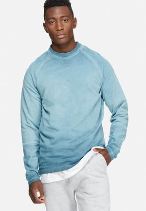 Only & Sons Barry Crew Neck Hoodies & Sweatshirts Blue