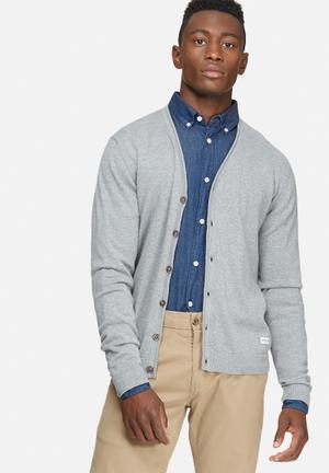 Only & Sons Alexander Caridgan Knit Knitwear Grey
