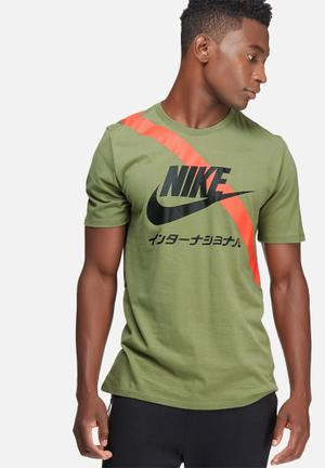 Nike International Tee T-Shirts Green