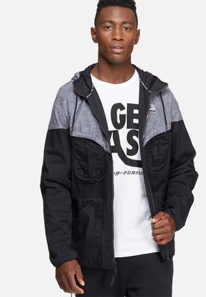 Nike International Windrunner Jacket Grey & Black