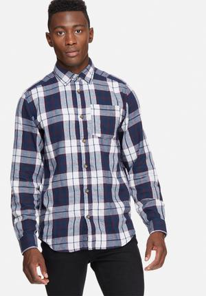 Jack & Jones Originals Christopher Slim Shirt Navy,White & Red