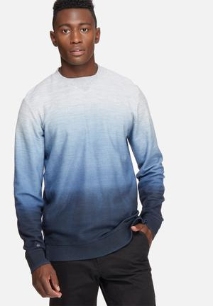 Jack & Jones Originals Grit Crew Sweat Hoodies & Sweatshirts Grey & Blue