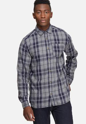 Jack & Jones Originals Christopher Slim Shirt Grey, Navy & White