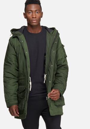 Jack & Jones Originals Now Parka Jacket Green