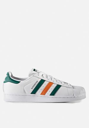 Adidas Originals Superstar Sneakers FTWR White / Collegiate Green / Tactile Orange S17