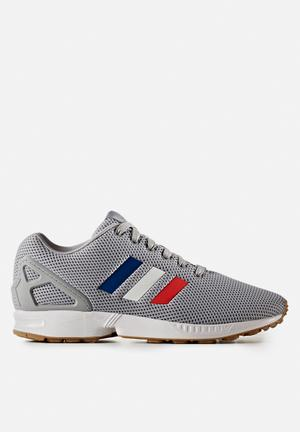 Adidas Originals ZX Flux Sneakers Mid Grey S14 / FTWR White / Core Red S17