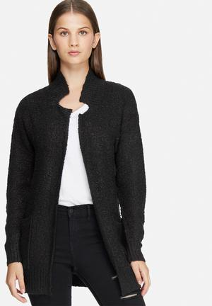 Jacqueline De Yong Atlas Long Cardigan Knitwear Black
