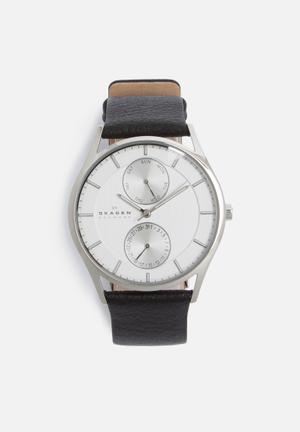 Skagen Holst Watches Black, White & Silver