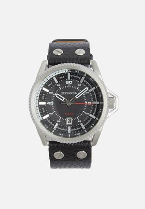 Diesel  Rollcage Watches Black & Silver