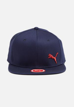 PUMA Mvp Puma Stretchfit Cap Headwear Navy & Red