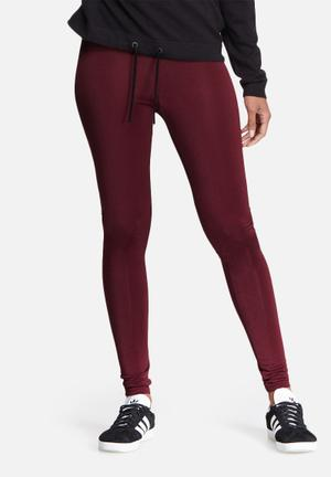 Dailyfriday Slinky Leggings Trousers Burgundy
