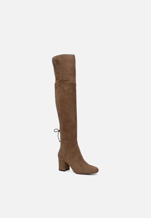 ALDO Adessi Boots Taupe