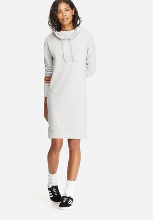 ONLY Jane High Neck Sweat Dress Casual Grey