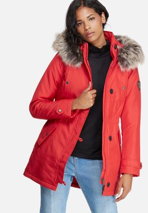 ONLY Iris Parka Jackets Red