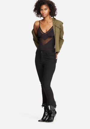 Vero Moda Sarina Bodysuit T-Shirts, Vests & Camis Black