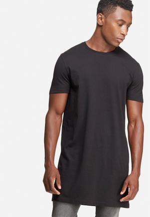 Basicthread Super Longline Tee T-Shirts & Vests Black