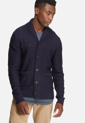 Jack & Jones Originals Anthon Knit Cardigan Knitwear Navy