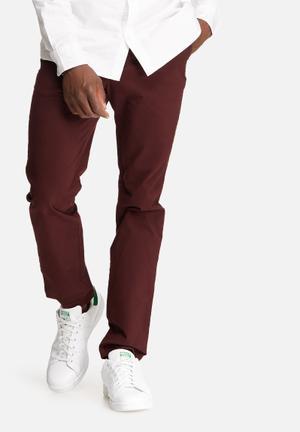 Jack & Jones Jeans Intelligence Marco Slim Chino Burgundy