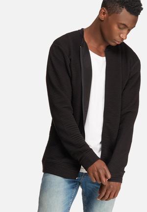 Only & Sons Baltimore Zip Cardigan Hoodies & Sweatshirts Black
